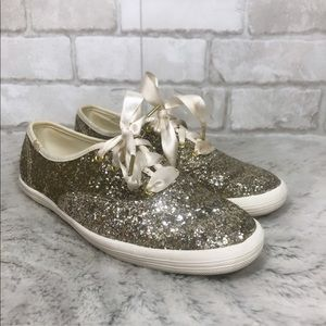 Kate Spade New York Lace Up Flat Sneakers